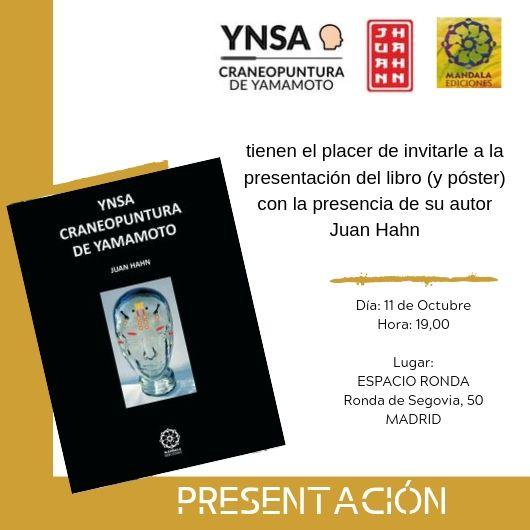 """Presentación del libro """"YNSA Craneopuntura de Yamamoto"""" de Juan Hahn"""