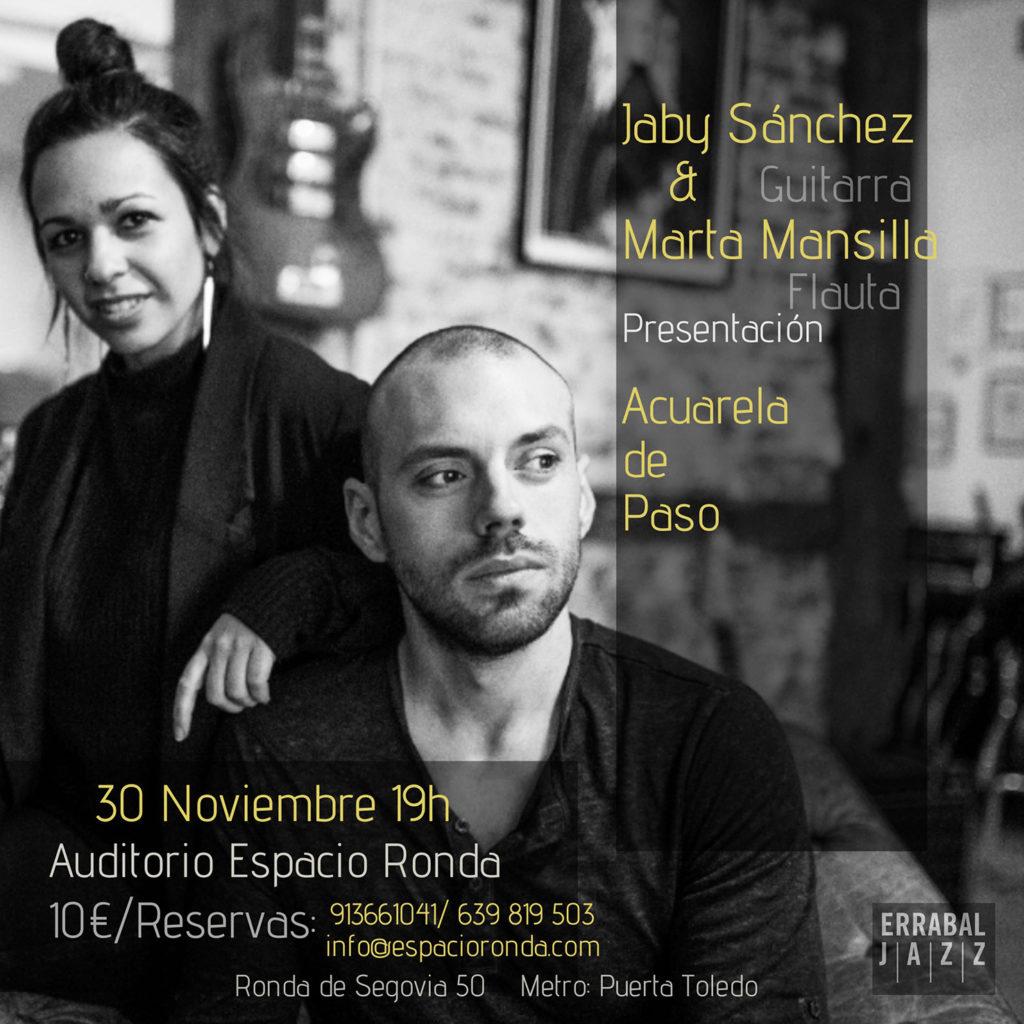 """Concierto Presentación de CD """"Acuarela de Paso"""" Jaby Sánchez y Marta Mansilla"""