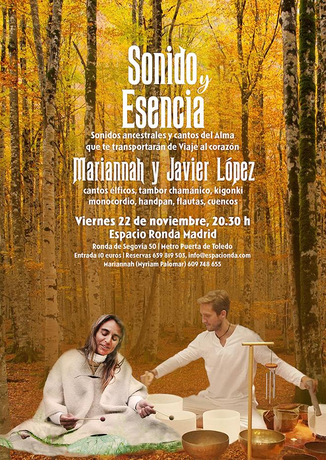 """""""Sonido y Esencia"""" con Mariannáh y Javier López"""