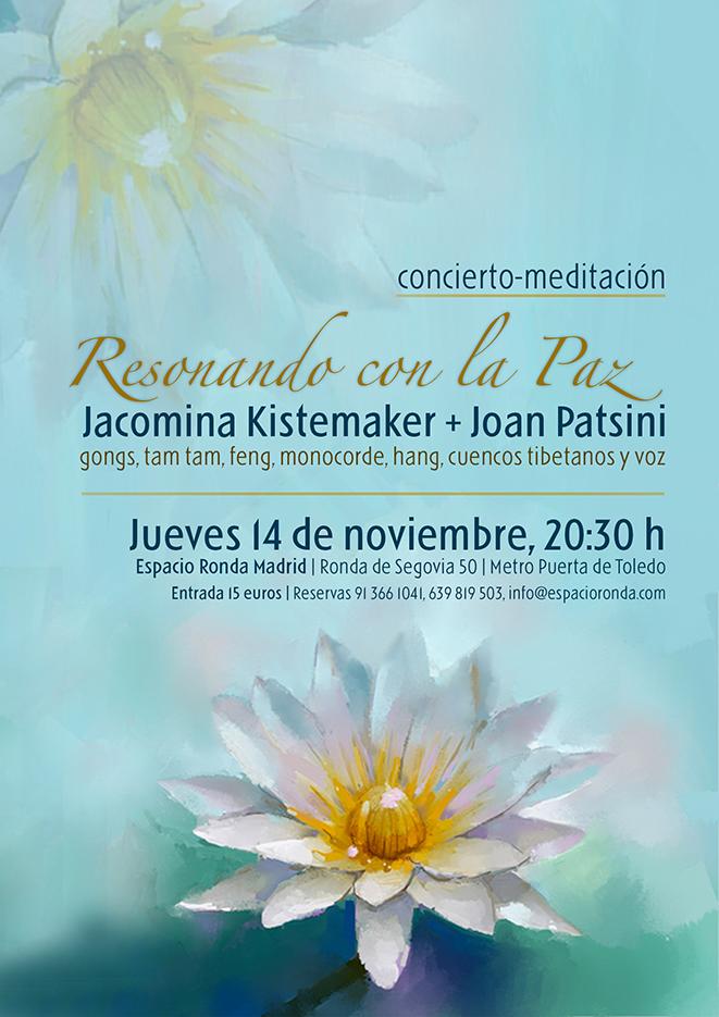 """Concierto-meditación """"Resonando la Paz"""" Jacomina Kistemaker + Joan Patsini"""