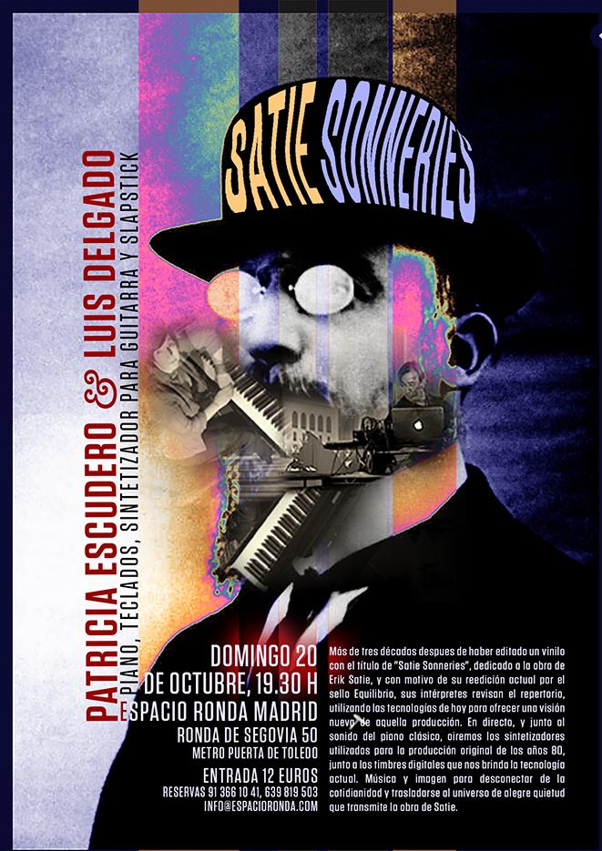 """Concierto """"Satie Sonneries"""" con Patricia Escudero & Luis Delgado"""