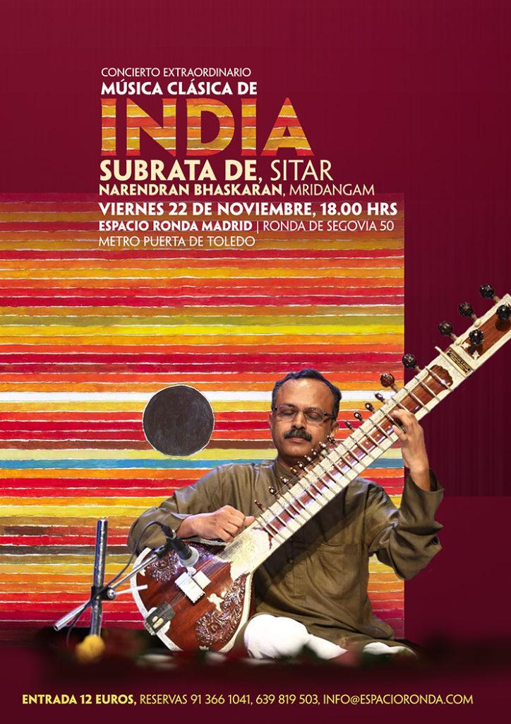 Concierto extraordinario de Música Clásica de India