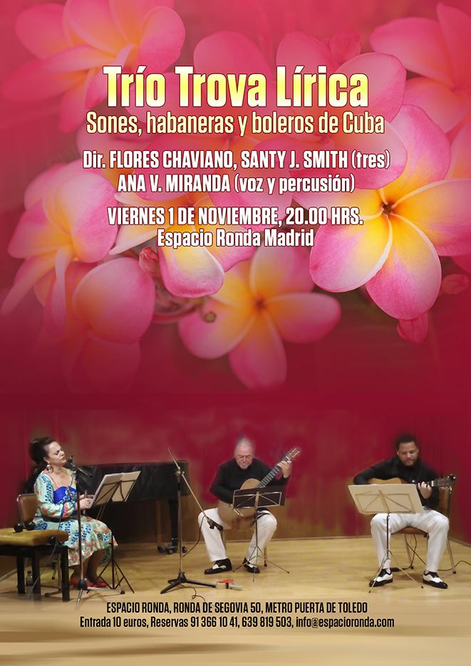 Trio Trova Líricapresenta Sones, habaneras y boleros de Cuba