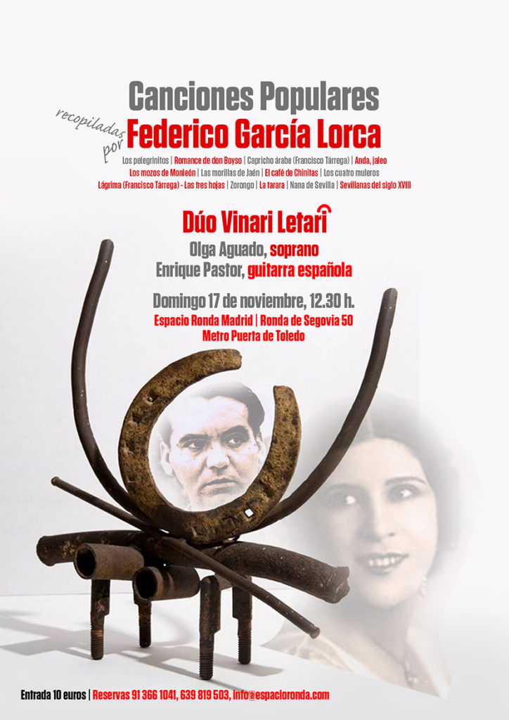 Canciones Populares de Federico García Lorca recopiladas por el Dúo Vinari Letari