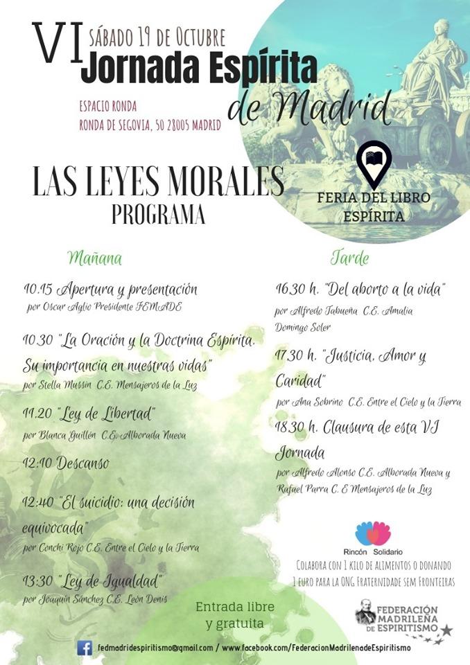 """VI Jornada Espírita de Madrid """"Las Leyes Morales"""""""