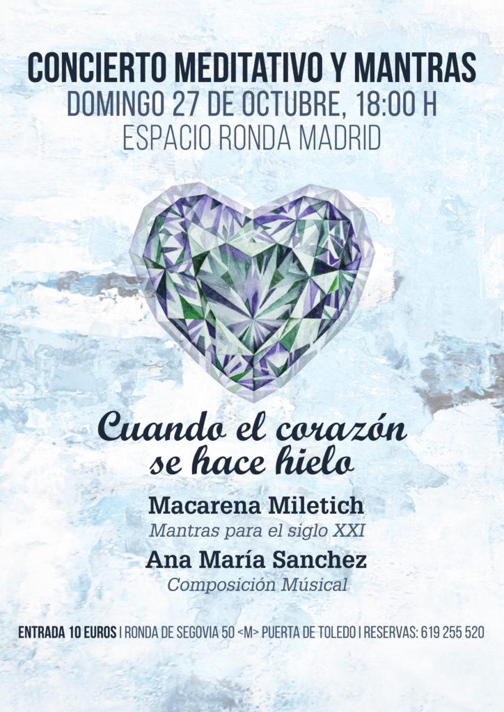 """Concierto meditativo y mantras """"Cuando el Corazón se hace cielo"""""""