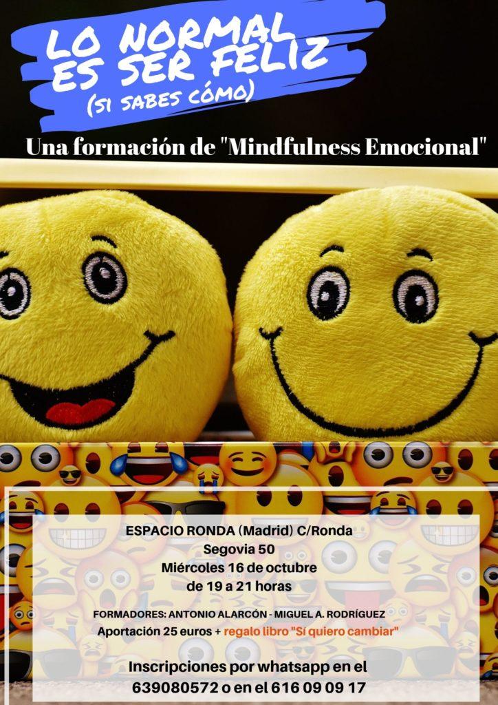 """""""Lo normal es ser feliz"""" Formación de Mindfullness Emocional"""