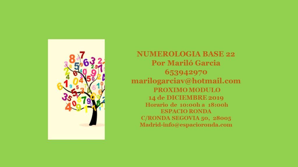 Taller Numerología Base 22 por Mariló García
