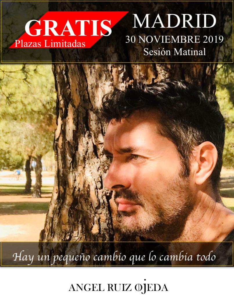 """Conferencia gratuita """"Hay un pequeño cambio que lo cambia todo"""" Angel Ruiz Ojeda"""