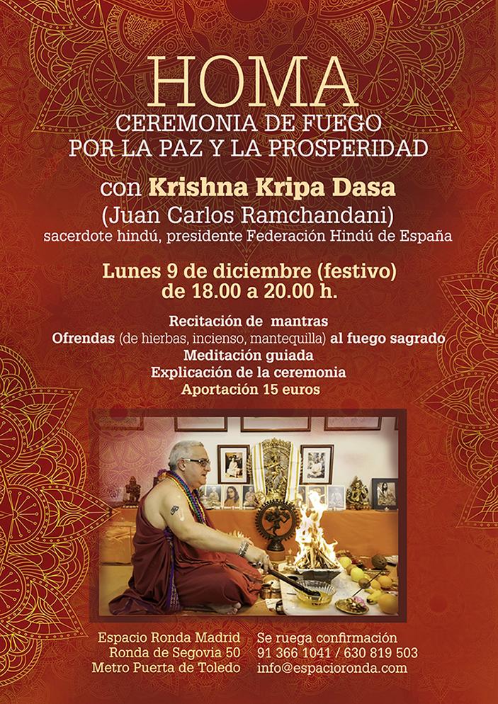 HOMA Ceremonia hindú de fuego por la paz y la prosperidad