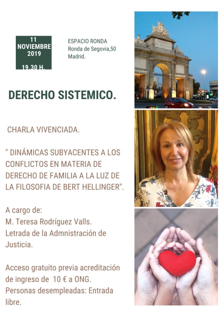 """Charla Vivenciada """"Derecho Sistemico"""""""