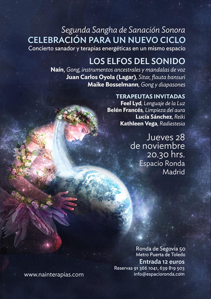 Concierto sanador y terapias energéticas · Segunda Sangha de Sanación Sonora