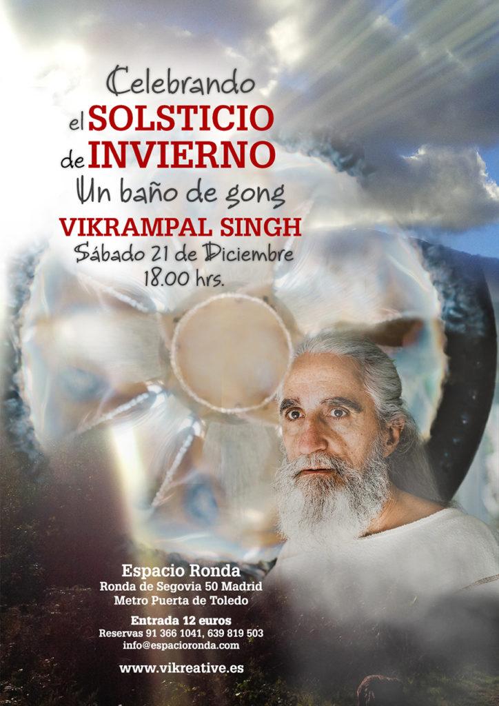 """Celebrando el Solsticio de Invierno """"Un Baño de gong"""" Vikrampal Singh"""