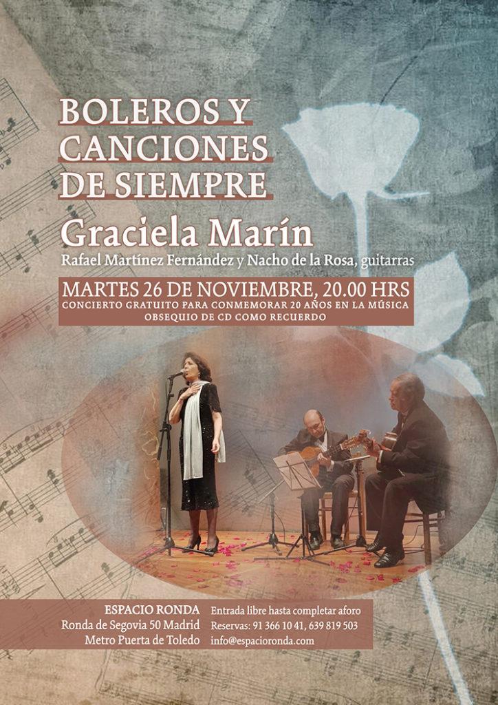 """GracielaMarínen concierto """"Boleros y Canciones de Siempre"""""""