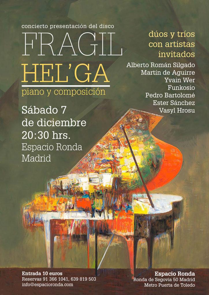 """Concierto presentación del disco """"Frágil"""" de Hel'ga, piano y composición"""