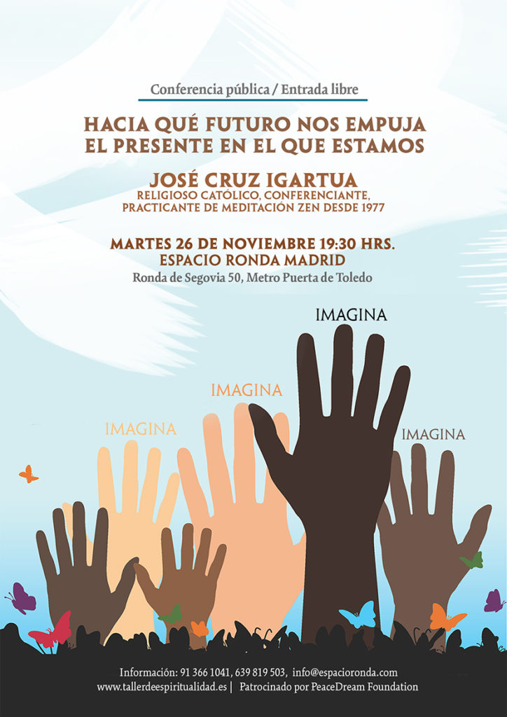 """Taller de espiritualidad """"Hacia qué futuro nos empuja el presente en el que estamos"""" conferencia de José Cruz Igartua"""
