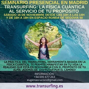 """Seminario presencial en Madrid """"Transurfing: La física cuántica al servicio de tu propósito"""""""