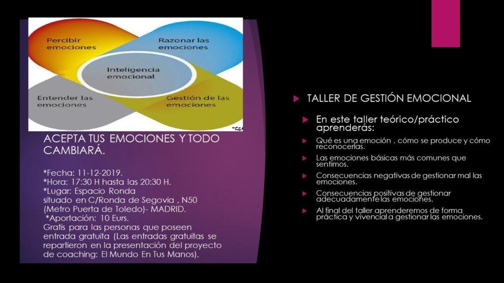 Taller de gestión emocional con Guadalupe Nieto