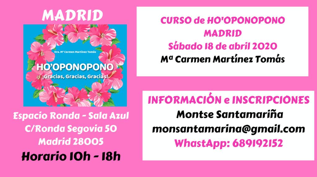 Curso de Ho'oponopono con Mª Carmen Martínez Tomás
