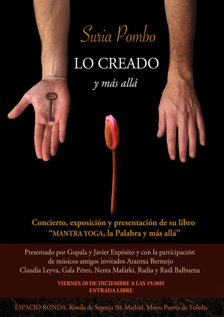 """Suria Pombo """"Lo Creado y más allá"""" Concierto, exposición y presentación de su libro"""