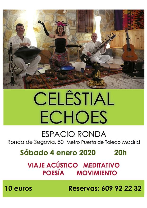 """[cancelado] """"Celêstial Echoes"""" Viaje acústico, meditativo, poesía, movimiento"""