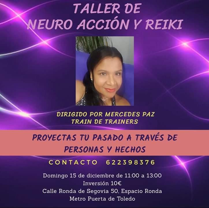 Taller de Neuro Acción y Reiki con Mercedes Paz