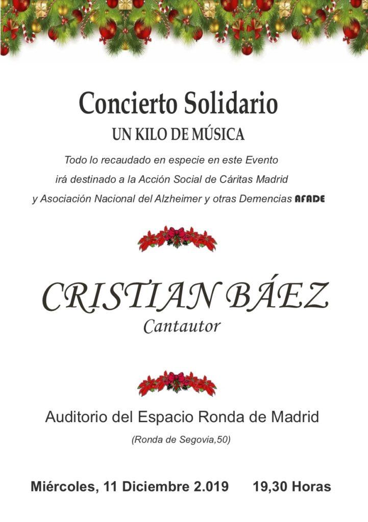 """Concierto Solidario """"Un kilo de música"""" Cristian Báez"""