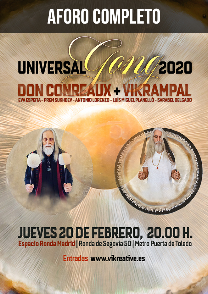 Universal Gong 2020 · Don Conreaux y Vikrampal - AFORO COMPLETO