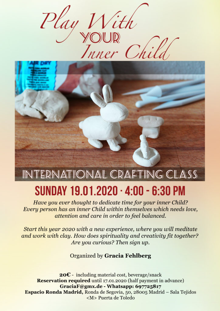 """International Crafting Class """"Play With Your Inner Child"""" organized by Gracia Fehlberg"""